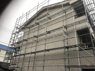 横浜西区にて足場工事