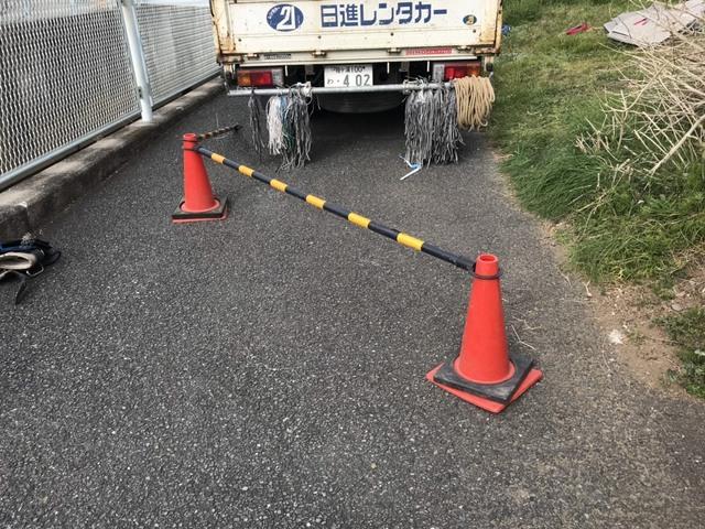 相模原にて足場工事