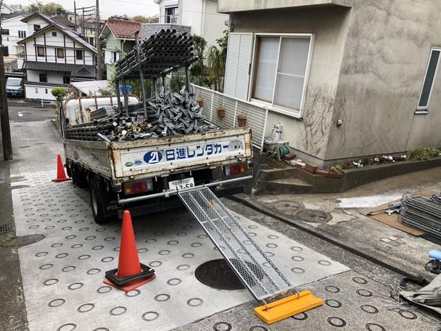 横浜足場工事②