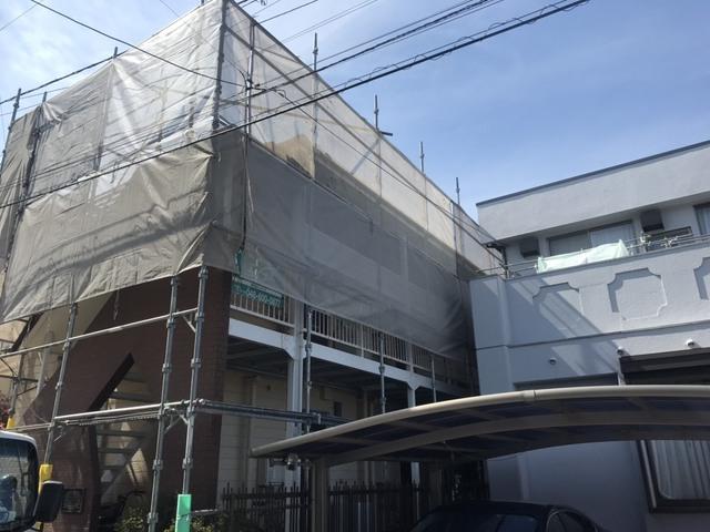埼玉にて足場工事