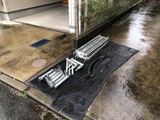 横浜市にて足場工事