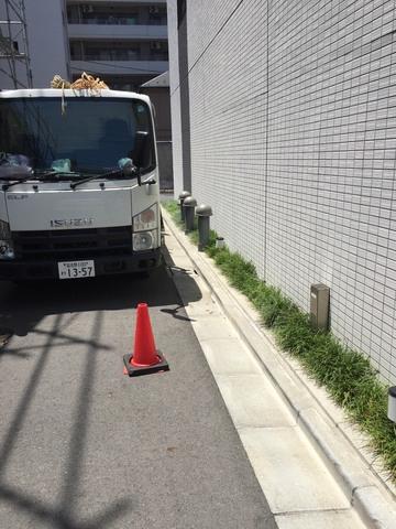 墨田区にて足場工事