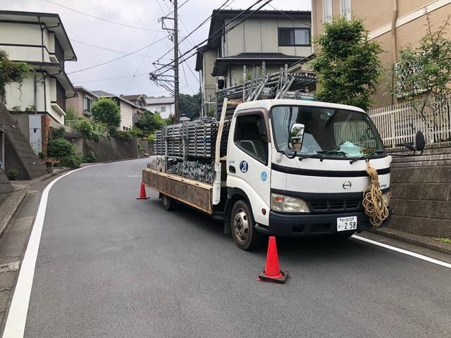 鎌倉市にて足場工事