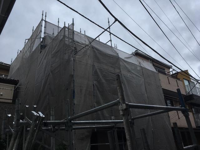 板橋区にて足場工事