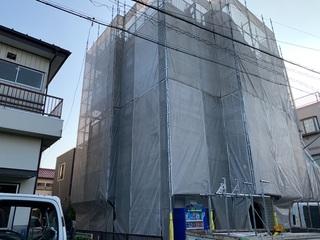川崎市にて足場工事