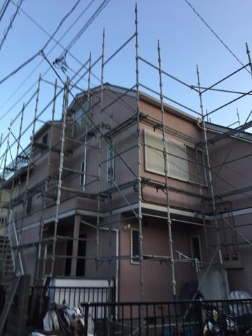 横須賀にて足場工事