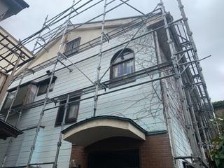 鶴見区にて仮設工事