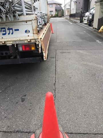 日野市にて仮設工事