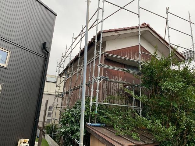 神奈川区にて足場工事