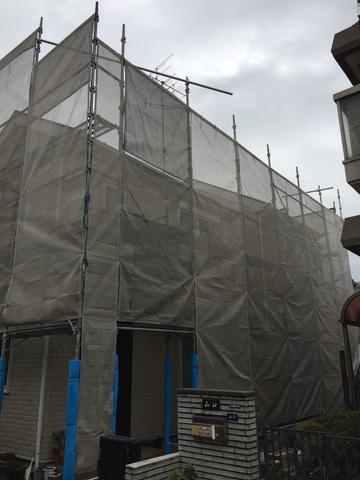 町田市にて足場工事