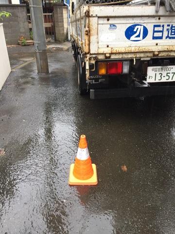 横浜市南区にて足場工事