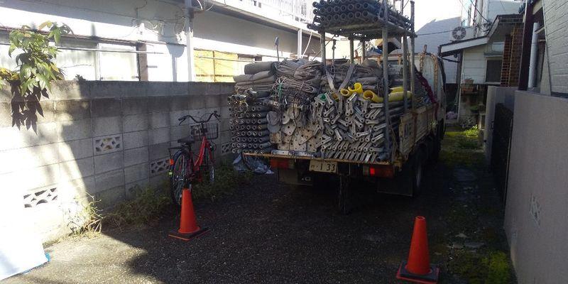 中野区にて足場工事