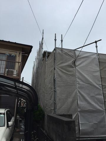 横須賀市にて足場工事