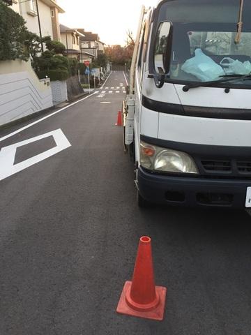 保土ヶ谷区にて足場工事