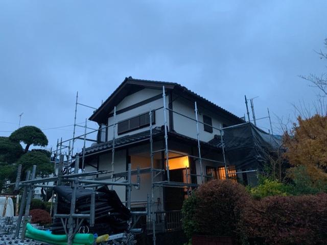 金沢区にて足場工事