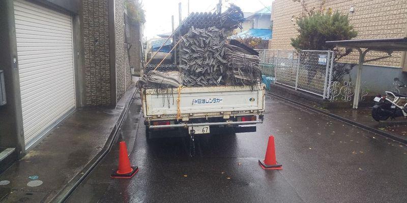 麻生区にて足場工事