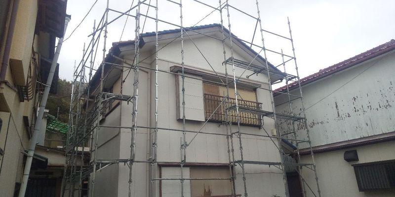 三浦市にて足場工事
