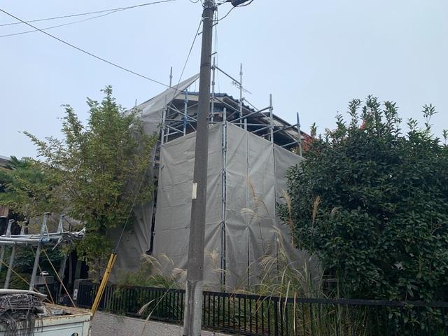 八王子市にて足場工事