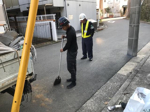 横浜市中区にて足場工事
