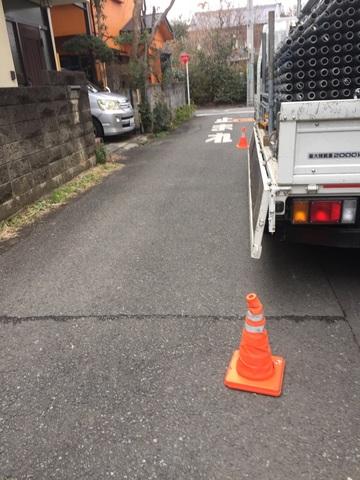 国分寺市東戸倉にて足場工事
