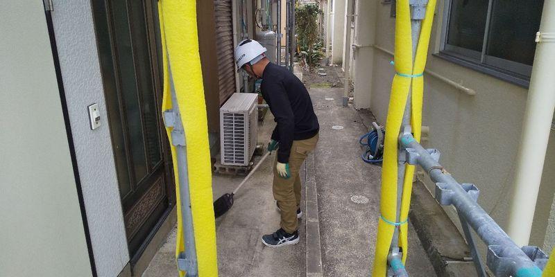 千葉県館山市にて足場工事