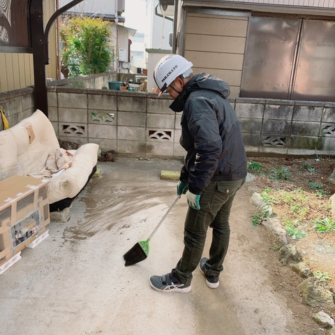 千葉県市原市大厩にて足場工事