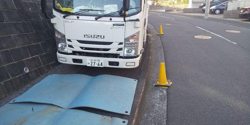 都筑区茅ヶ崎東にて足場工事