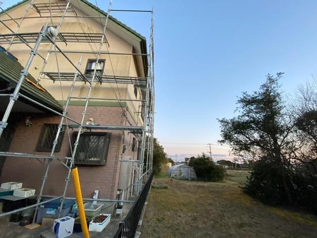 千葉県にて足場工事